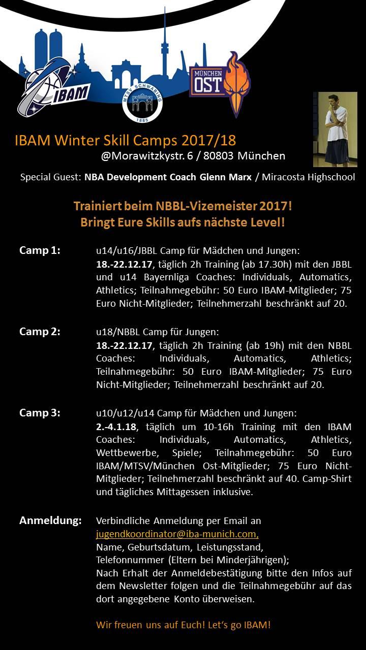 Einladung zu IBAM Winter Skill Camp 2017/2018